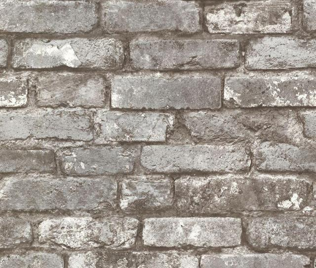 Brewster Chelsea Charcoal Brick Wallpaper Sample