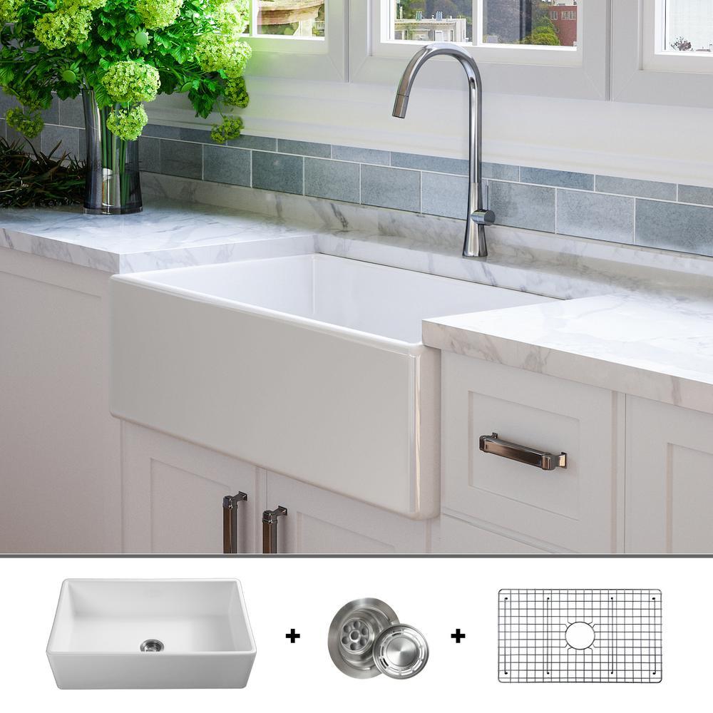 fossil blu luxury 33 inch fine fireclay modern farmhouse on kitchens with farmhouse sinks id=96735
