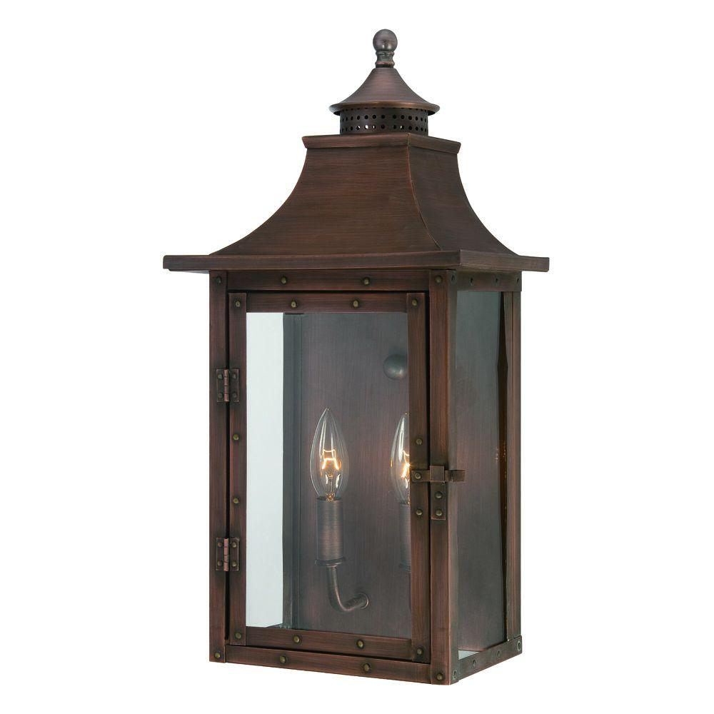 Acclaim Lighting St. Charles Collection Wall-Mount 2-Light ... on Outdoor Lighting Fixtures Wall Mounted id=74655