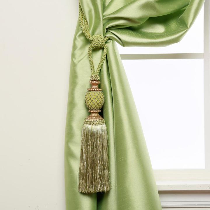 L Bella Tassel Curtain Tieback In Green 2