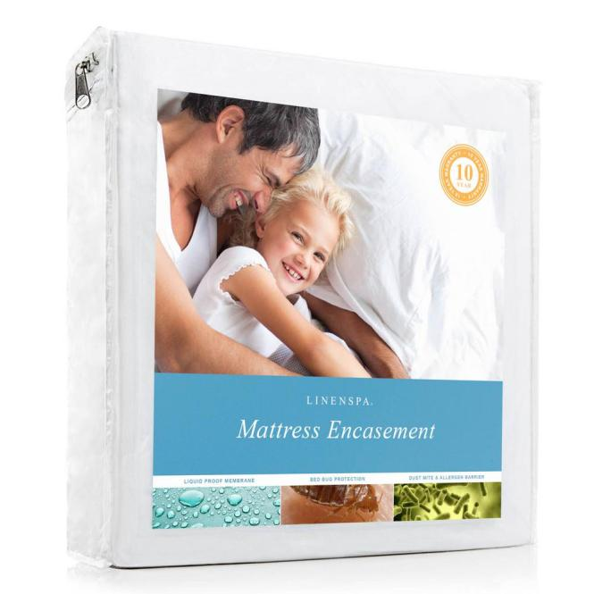 Linenspa Zippered Encat Waterproof Dust Mite Proof Bed Bug Breathable Mattress Protector Twin Xl Ls1ptxep The Home Depot