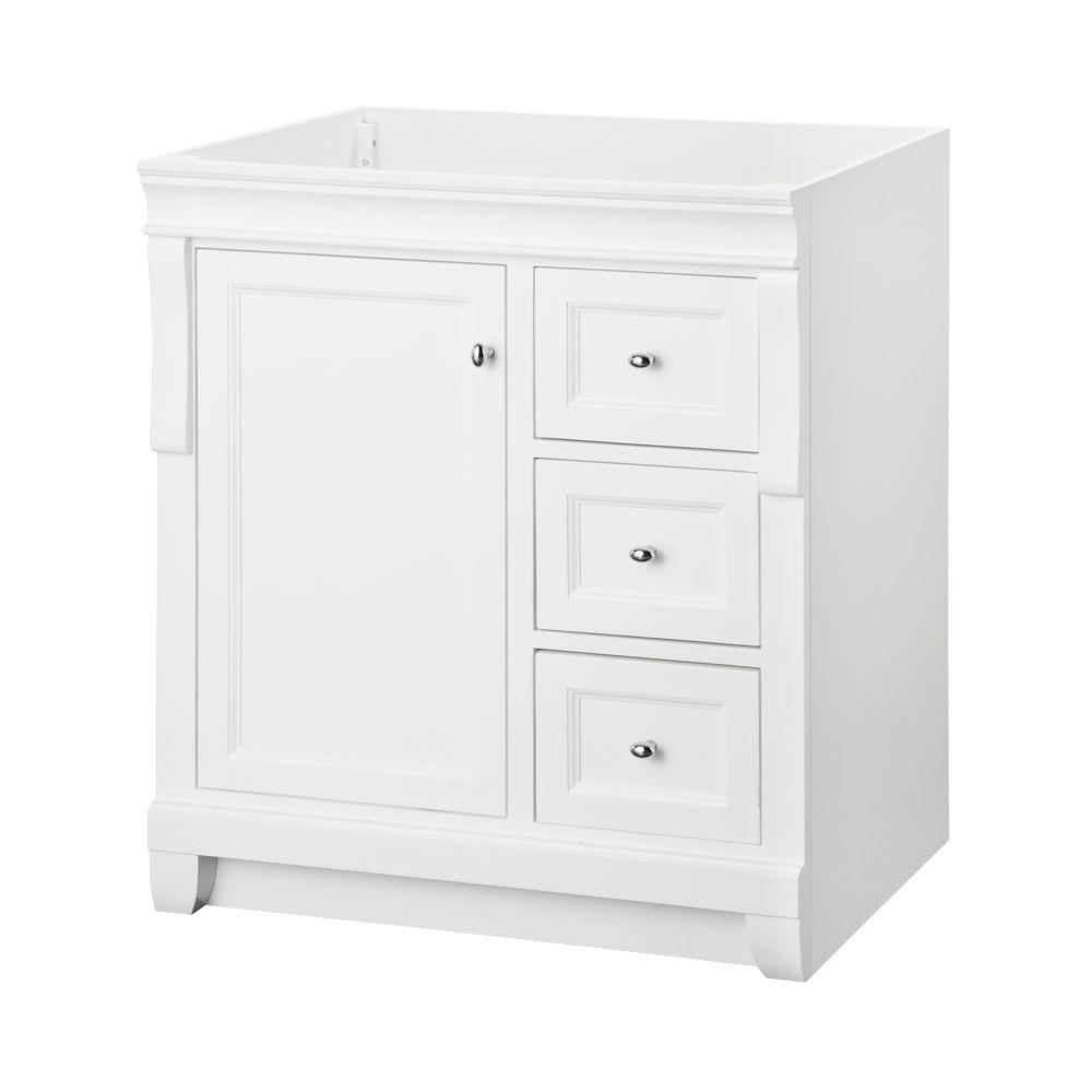 foremost naples 30 in. w x 21.75 in. d bath vanity cabinet in