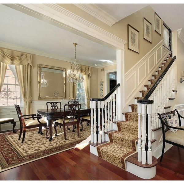 Natco Sapphire Sarouk Ivory 26 In X Your Choice Length Stair | Home Depot Stair Runners | Diy | Boards | Half Landing | Outdoor | Tread