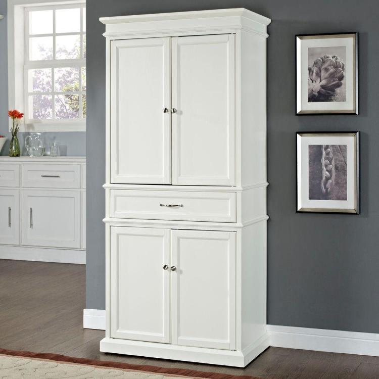 Crosley Parsons White Storage Cabinet Cf3100 Wh The Home Depot