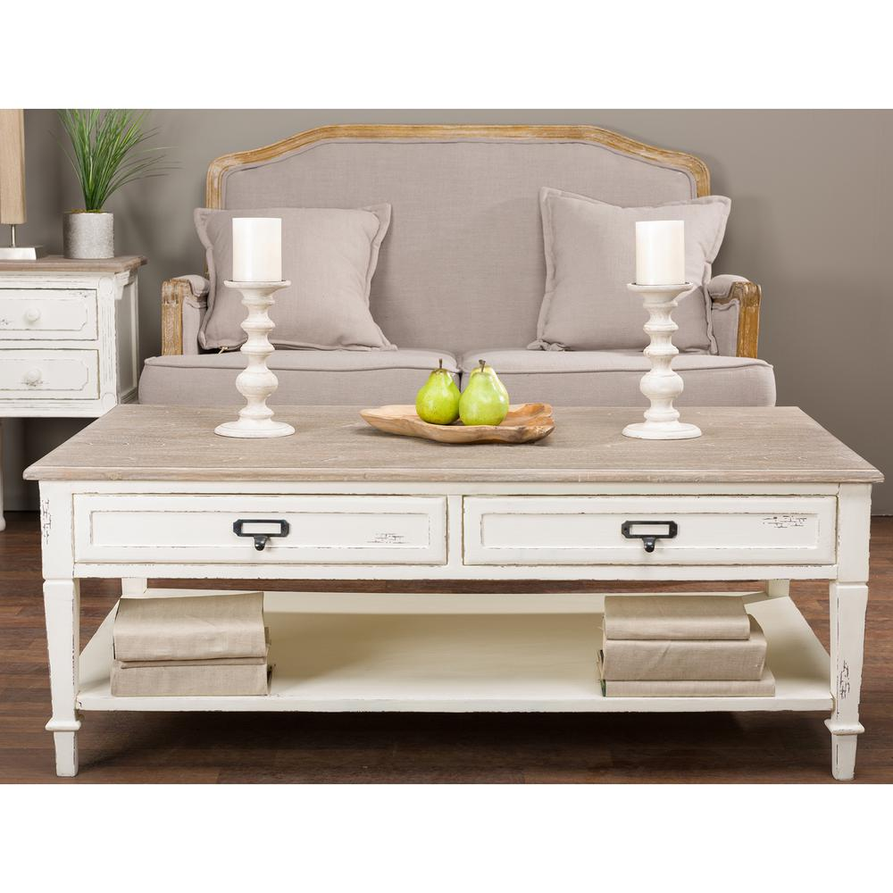 baxton studio dauphine 47 in white light brown large rectangle wood coffee table with drawers 28862 6029 hd the home depot