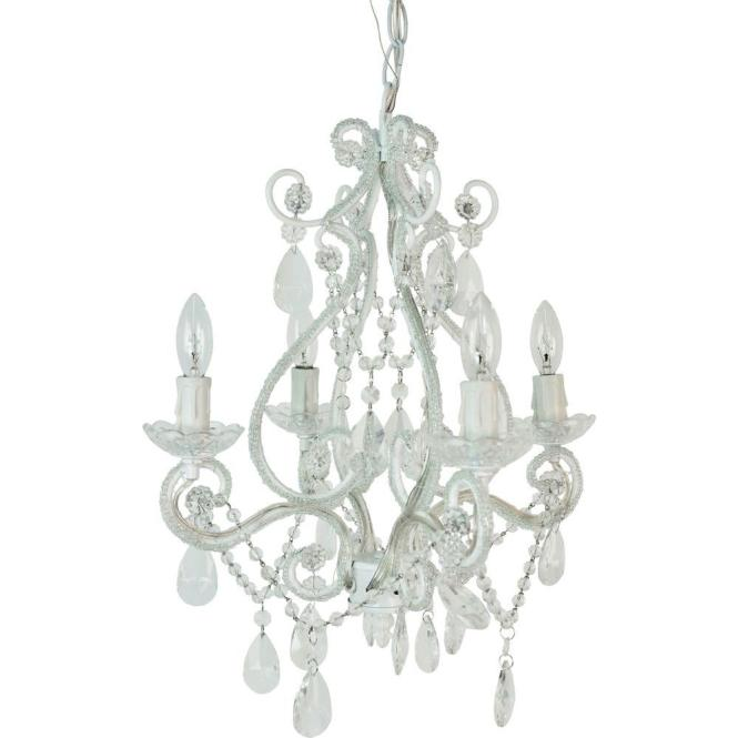 This Review Is From 4 Light White Mini Chandelier