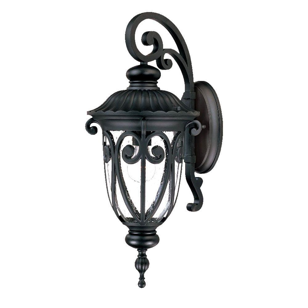Acclaim Lighting Naples Collection 1-Light Matte Black ... on Outdoor Lighting Fixtures Wall Mounted id=20361