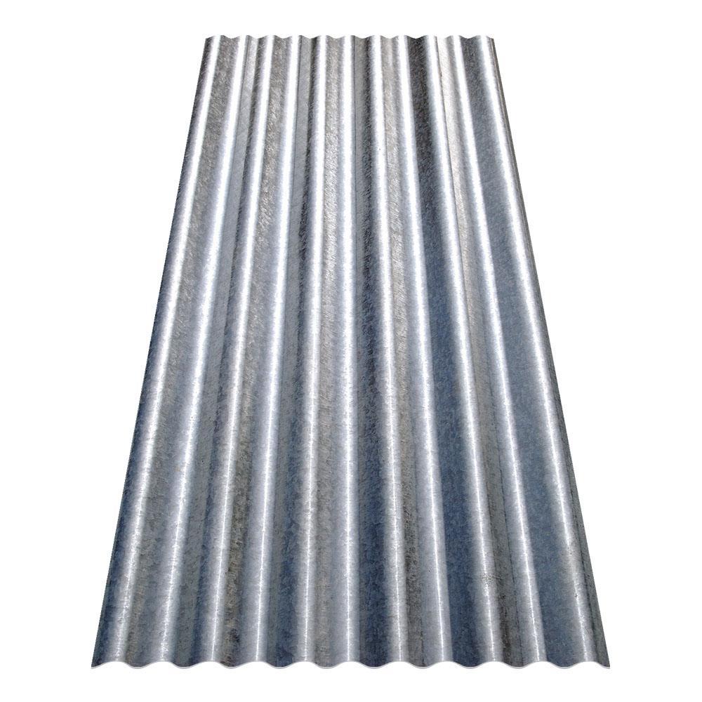 8 Ft Corrugated Galvanized Steel Utility Gauge Roof Panel