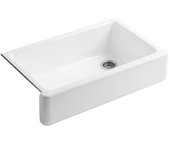 Kohler Whitehaven Undermount Apron Front Cast Iron  In Single Basin Kitchen Sink In White K   The Home Depot