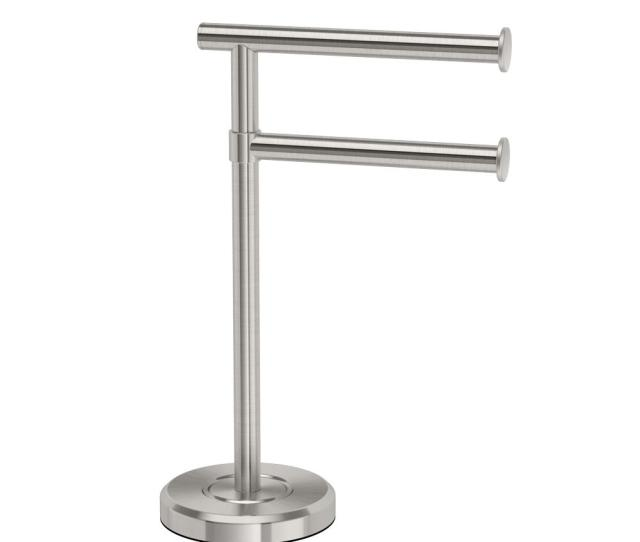 Latitude Ii Minimalist Countertop  Arm Pivot Hand Towel Bar Holder In