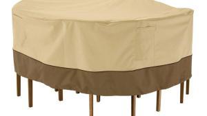 Classic Accessories Veranda Large Round Patio Table And