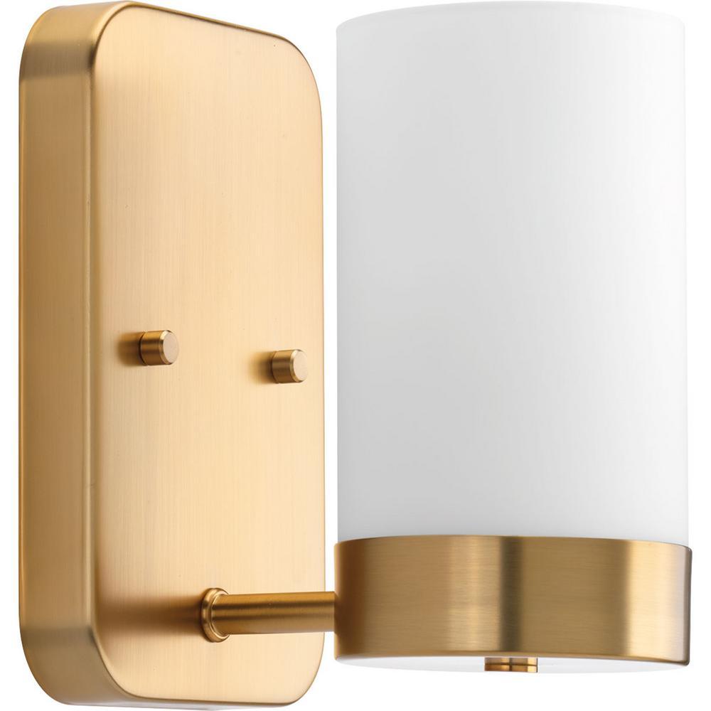 Progress Lighting Elevate Collection 1-Light Brushed ... on Bathroom Sconce Lights Brushed Bronze id=35744