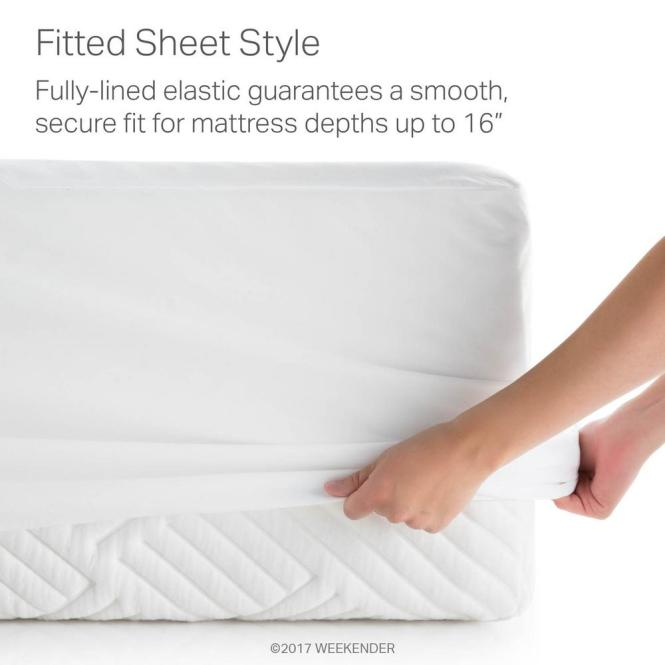 Weekender Hotel Grade White 5 Sided Jersey Full Xl Mattress Protector