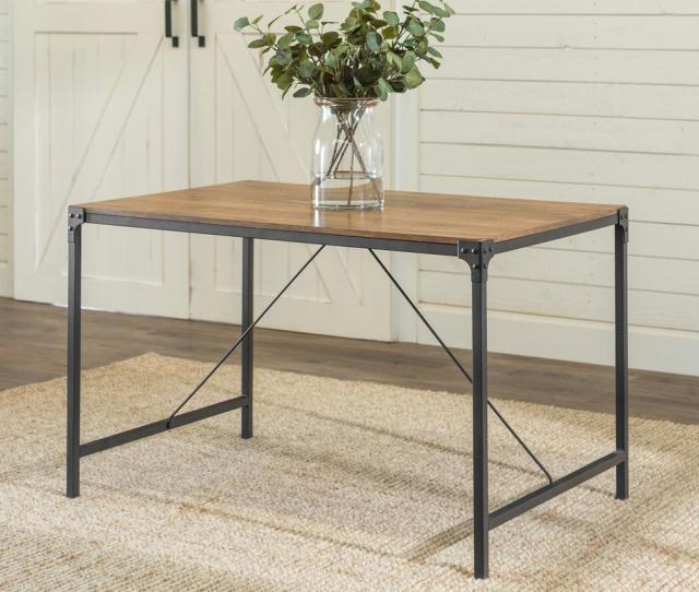 Angle Iron Barnwood Dining Table