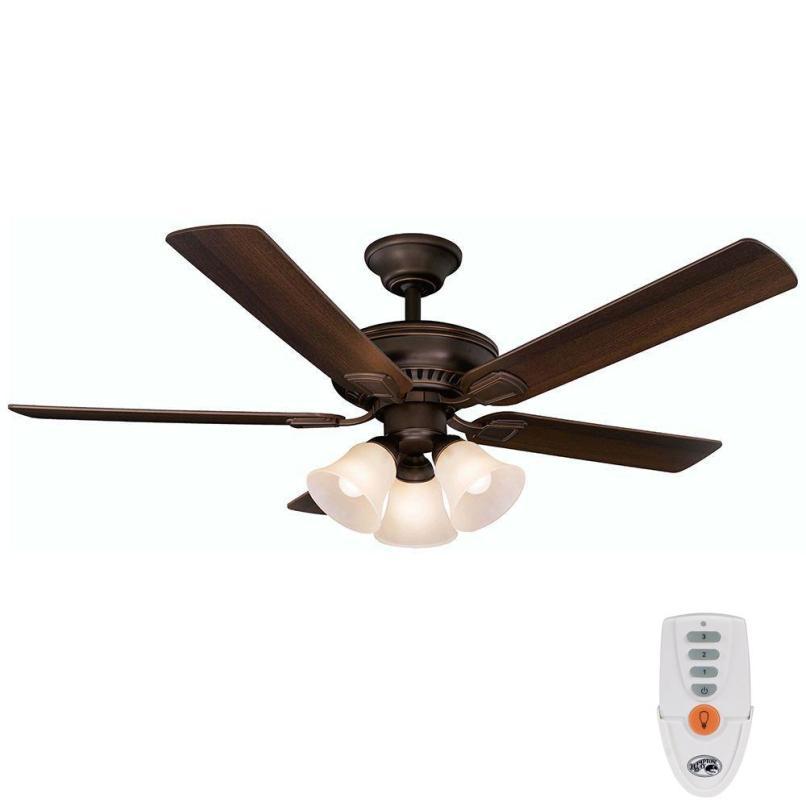 Hampton bay ceiling fan lights don t work lightneasy hampton bay campbell 52 in indoor mediterranean bronze ceiling remote ceiling fan aloadofball Gallery