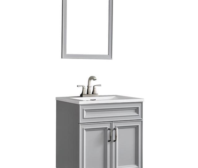 Decor Living Colette  In W X  In D Floating Vanity In Gray