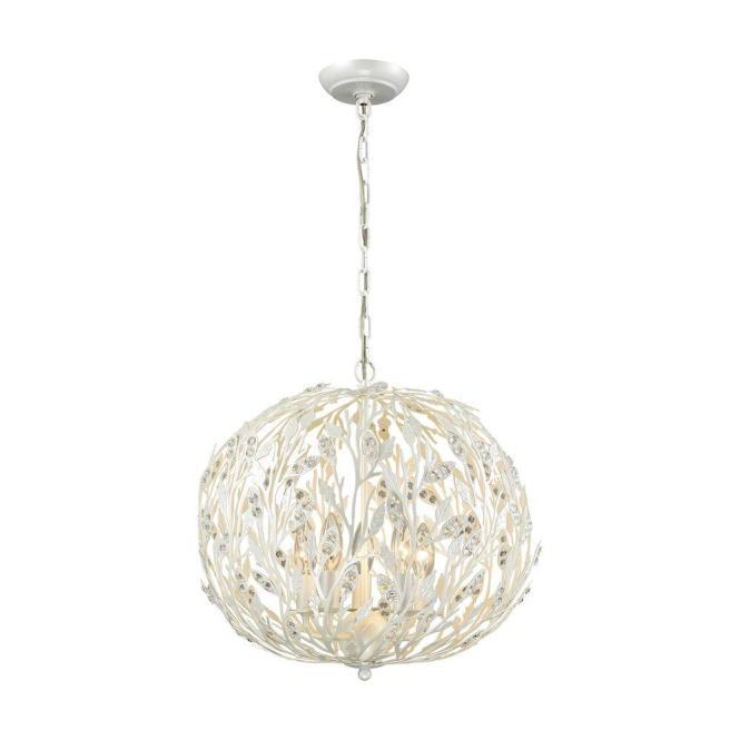 An Lighting Trella 5 Light Pearl White Chandelier