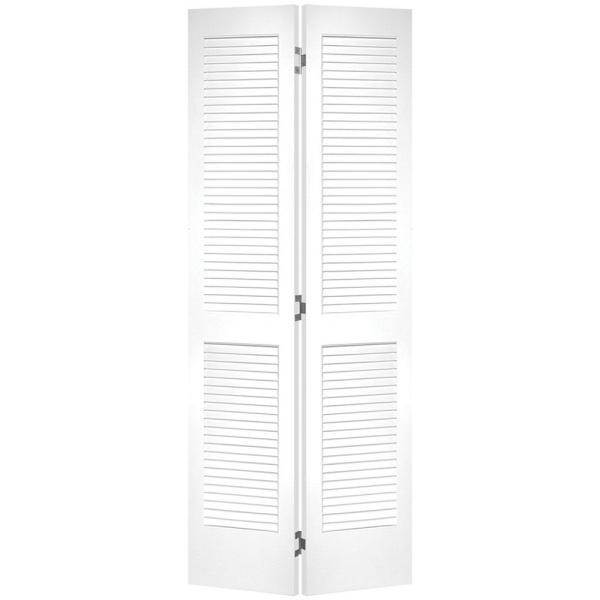 masonite 30 in x 80 in louvered primed white hollow on Masonite 30 In X 80 In Half Louvered Primed Hollow id=26086
