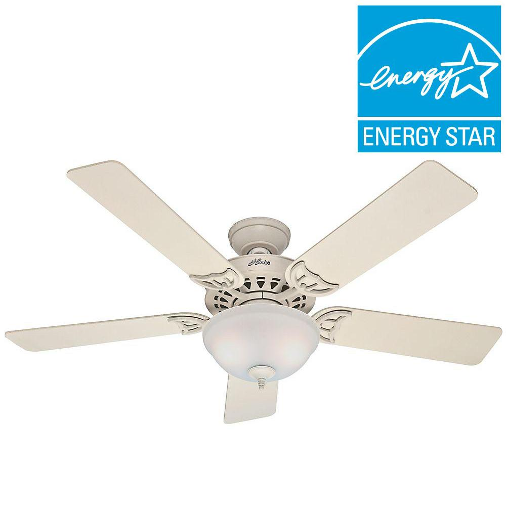 Hunter Sonora 52 In Indoor White Ceiling Fan French