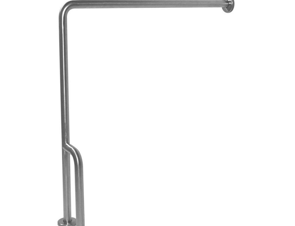 Ponte Giulio 30 In X 33 In Right Floor To Wall Grab Bar | Wall To Floor Handrail | Glass | Paint Colors | Staircase | Wrought Iron | Concrete