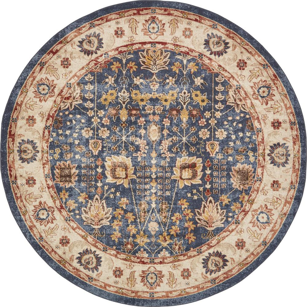 Unique Loom Utopia Light Blue 8 X 8 Round Rug 3135310 The Home Depot