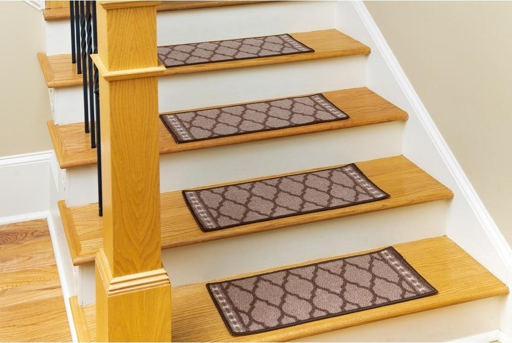 Tile Stair Tread Covers Rugs The Home Depot | Rug Treads For Steps | Creative | Covering | Residential | Oak | Turquoise