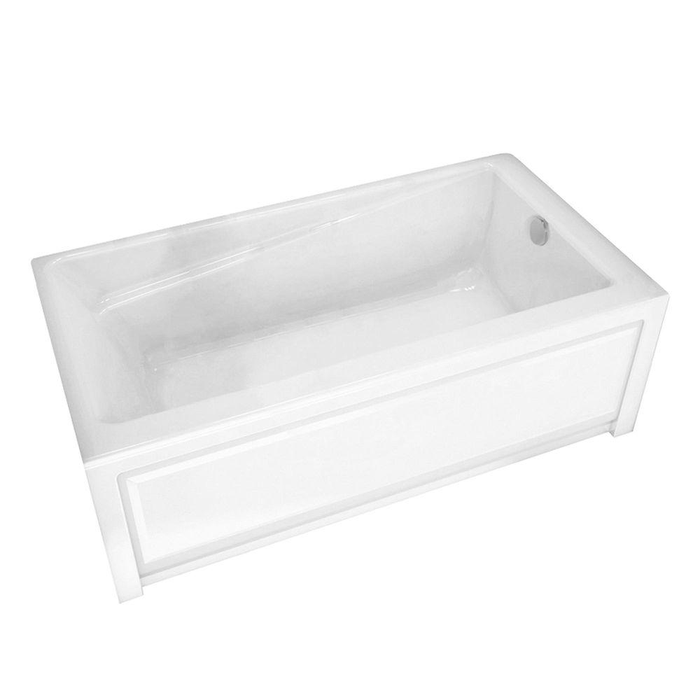 MAAX New Town 60 In Acrylic Right Drain Rectangular