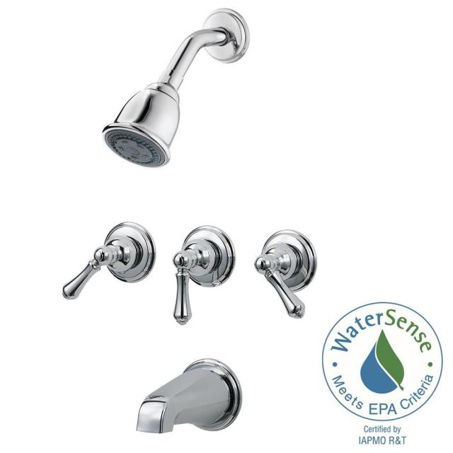 price pfister 3 handle tub shower faucet ~ moheganfd.org