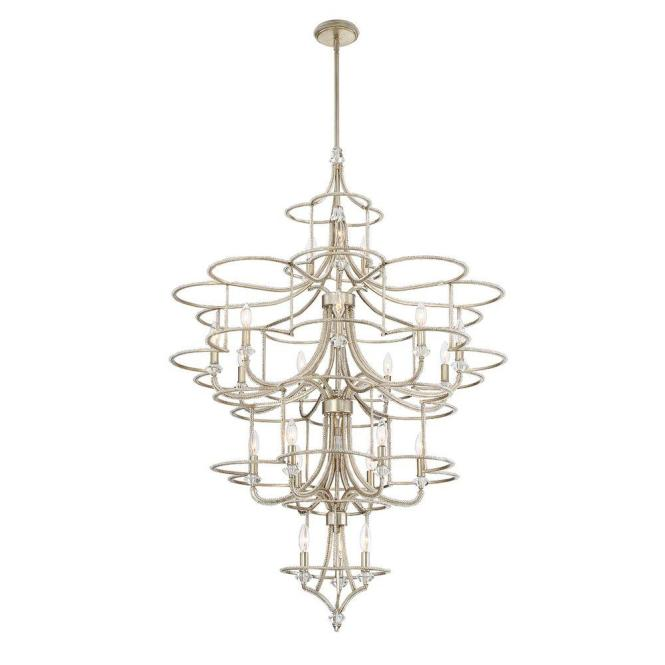 Eurofase Palmisano Collection 21 Light Silver Chandelier