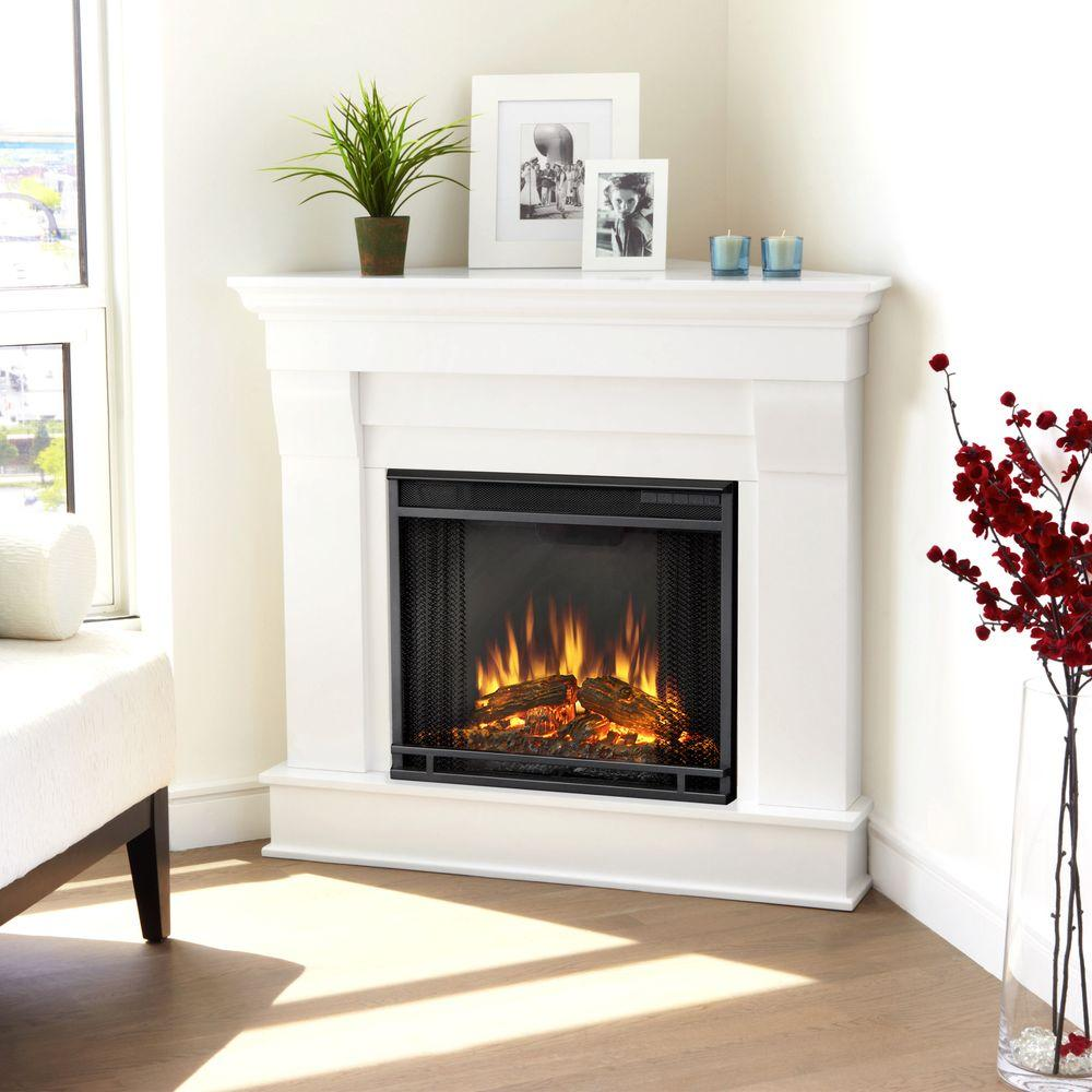 title | White Corner Fireplace