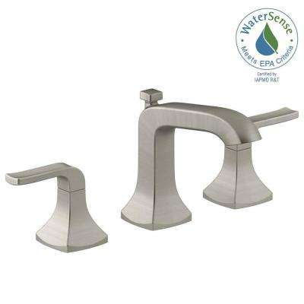 Widespread  Handle Bathroom Faucet In Vibrant Brushed Nickel