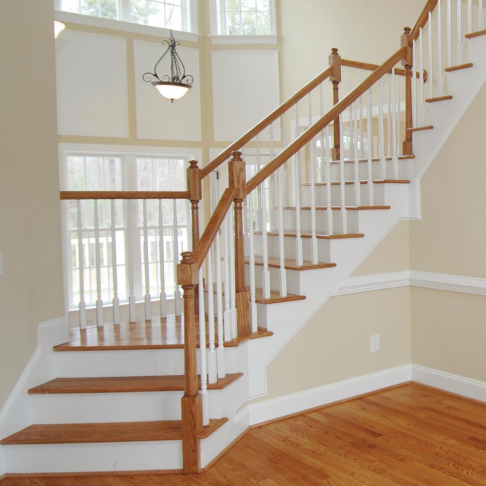 Stair Parts 6010 14 Ft Unfinished Red Oak Stair Handrail 6010R | Wooden Stair Railing Prices | Staircase Ideas | Deck Railing | Frameless Glass | Steel | Glass Stair