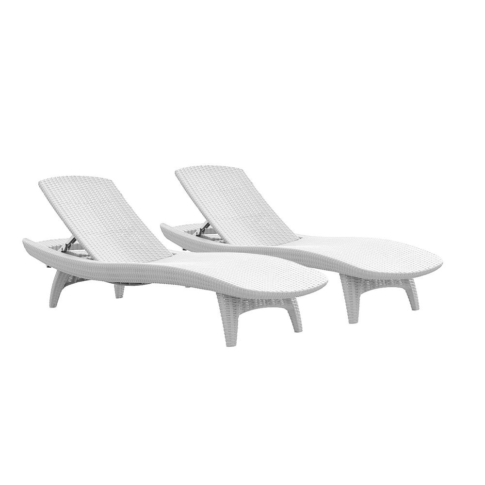 Suncast Elements Resin Outdoor Lounge Chair With Storage