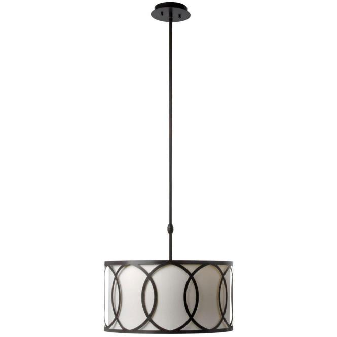 Globe Electric 3 Light Oil Rubbed Bronze And Glass Vintage Pendant 64845 The Home Depot