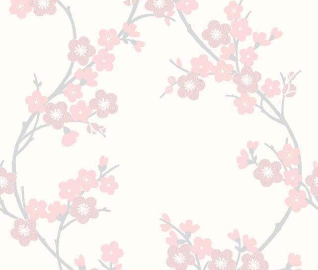 Graham Brown Soft Pink Cherry Blossom Wallpaper