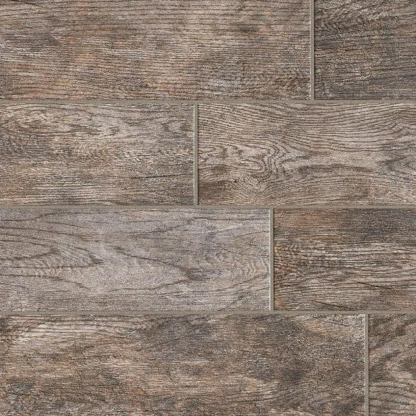 MARAZZI Montagna Rustic Bay 6 in  x 24 in  Glazed Porcelain Floor     MARAZZI Montagna Rustic Bay 6 in  x 24 in  Glazed Porcelain Floor and Wall