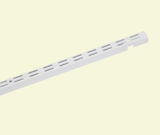 Closetmaid Shelftrack  In X  In White Standard  The Home Depot