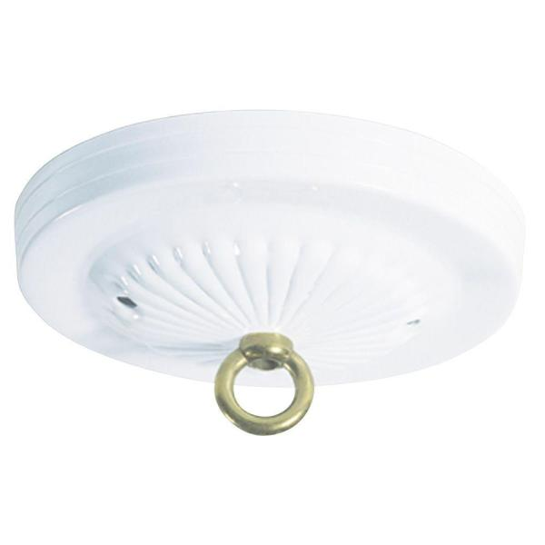 Westinghouse 5 in  White Traditional Canopy Kit 7005600   The Home Depot White Traditional Canopy Kit