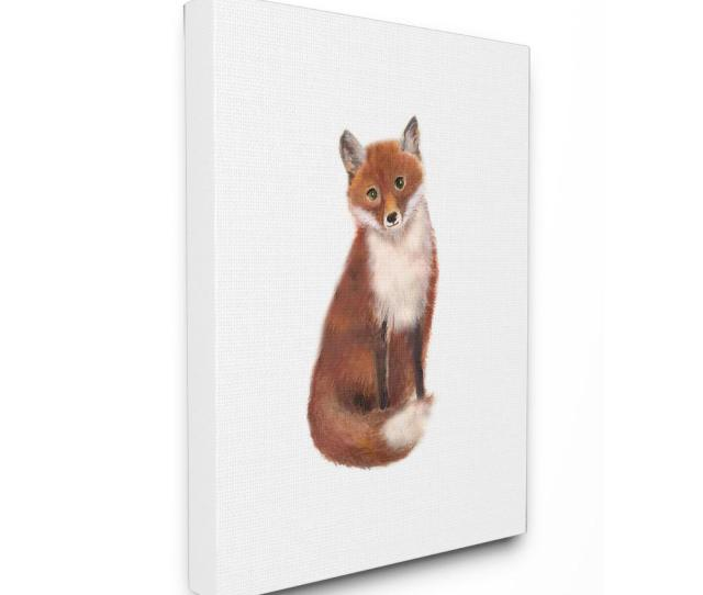 Stupell Industries 16 In X 20 In Red Fox Watercolor Illustration By