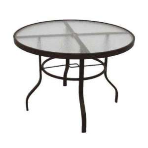 Fade resistant   White   Metal Patio Furniture   Patio Tables     Dark Cafe Brown Acrylic Top Commercial Metal Outdoor Patio Dining Table