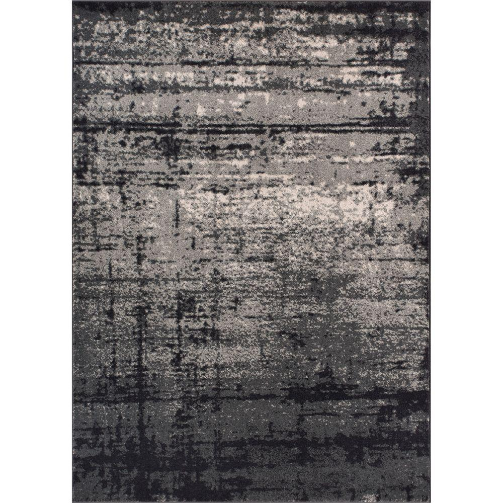 Well Woven Sydney Vintage Crosby Grey 3 Ft 3 In X 4 Ft