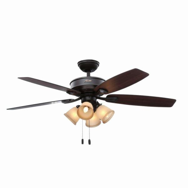 Hunter Belmor 52 in  Indoor New Bronze Ceiling Fan with Light Kit     Hunter Belmor 52 in  Indoor New Bronze Ceiling Fan with Light Kit