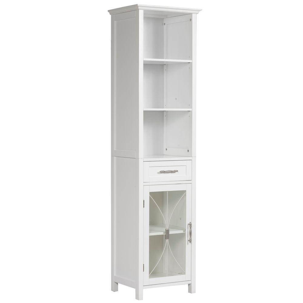 white - linen cabinets - bathroom cabinets & storage - the home depot