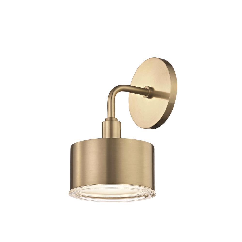 Mitzi by Hudson Valley Lighting Nora 1-Light Aged Brass ... on Led Sconce Lighting id=17029