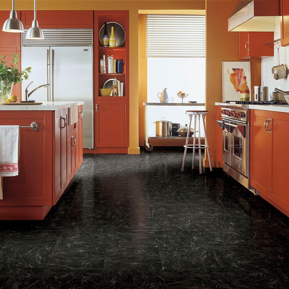black vinyl plank flooring home depot