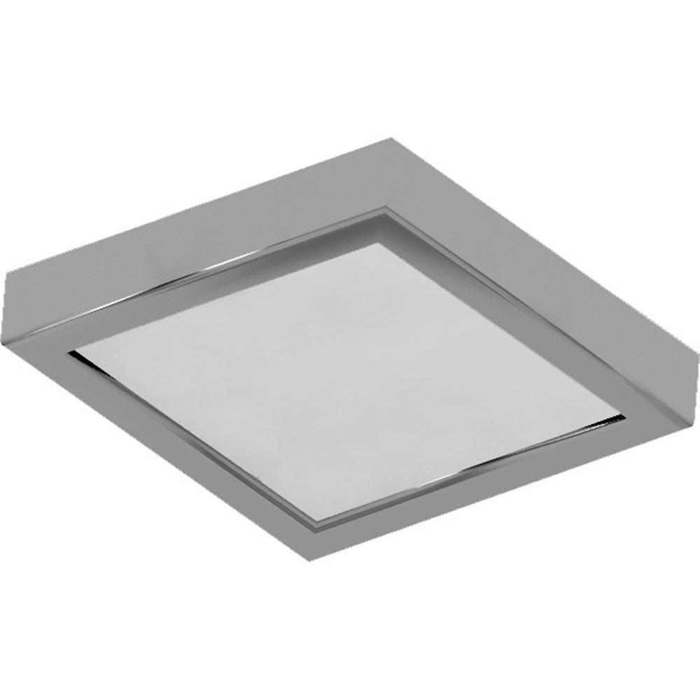 Volume Lighting 10 In 1 Light Brushed Nickel Led Indoor Mini Square Ceiling Flush Mount Wall Mount Sconce Light With White Square Lens V7083 33 The Home Depot