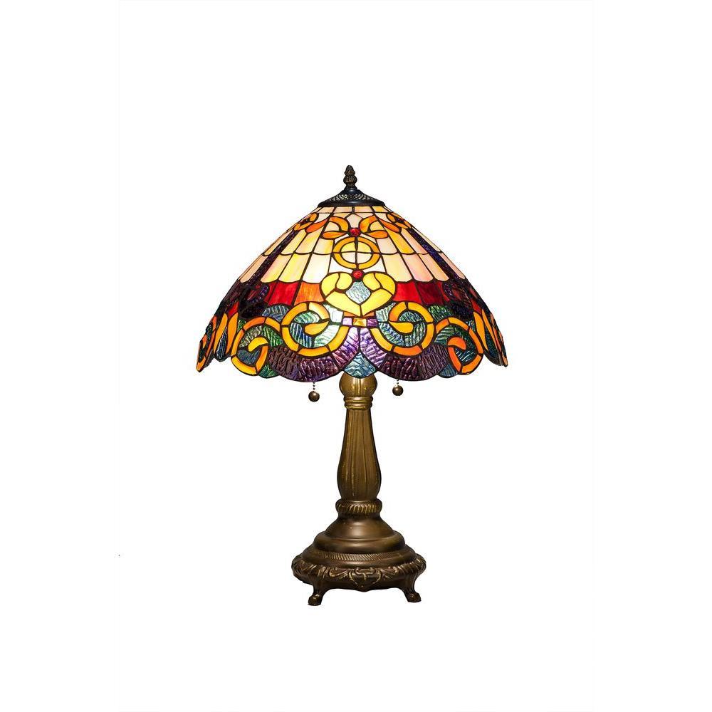 Serena D Italia Tiffany Baroque 23 In Bronze Table Lamp