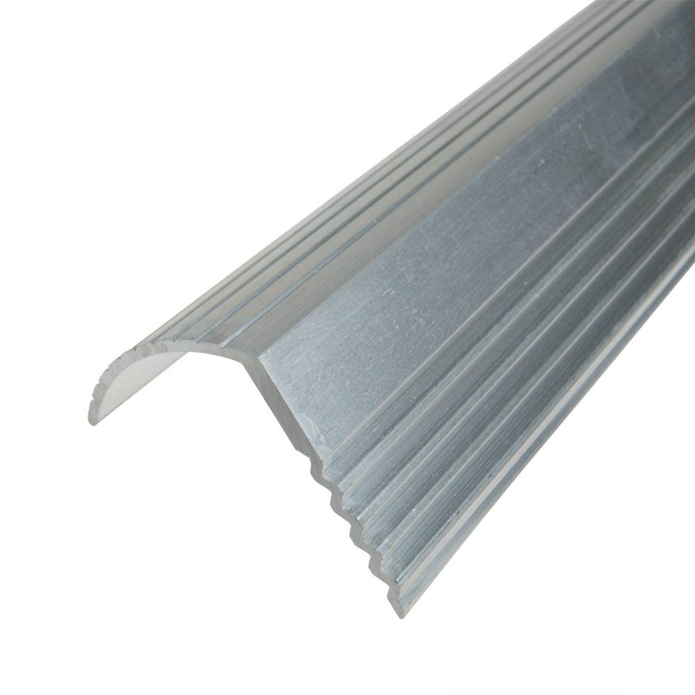 Trafficmaster Silver 1 1 16 In X 144 In Stair Edging H5255 The | Metal Stairs Home Depot | Stair Tread | Stair Stringer | Stair Parts | Handrail | Stair Railing