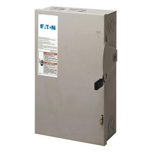 Eaton 60 Amp 120240Volt 14,400Watt Fused Safety Switch