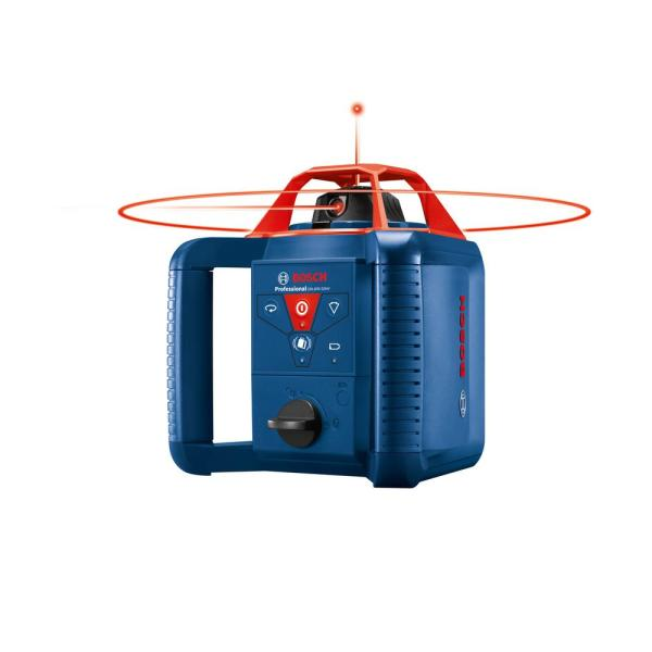 Bosch 800 Ft Self Leveling Rotary Laser Level Kit With Carrying Case Grl 800 20 Hvk The Home Depot
